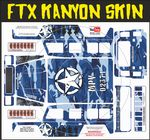 Blue Army Camo Camouflage themed vinyl SKIN Kit & Stickers To Fit R/C FTX Kanyon Rock Crawler